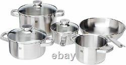 Zwilling 5 Pc Joy Cookware Set Frying Sauce Pan Stock Stew Pot Stainless Steel